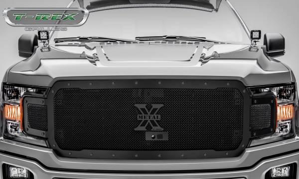 T-Rex - T-Rex Stealth X-Metal Grille, Black, Mild Steel, 1 Pc, Replacement 6715791-BR
