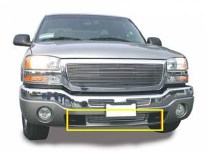 Exterior - Grilles - T-Rex - T-Rex Billet Bumper Grille, Polished, Aluminum, 1 Pc, Bolt-On 25202