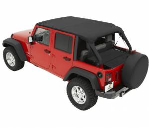 Tops & Parts - Soft Tops - Bestop - Bestop Header Bikini Top; Safari-style - Jeep 2007-2009 Wrangler Unlimited 52581-35