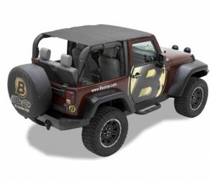 Tops & Parts - Soft Tops - Bestop - Bestop Header Bikini Top; Safari-style - Jeep 2010-2018 Wrangler JK 2DR 52583-35