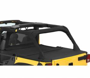 Exterior - Tonneau Covers - Bestop - Bestop Duster Deck Cover Extension Jeep 2007-2018 Wrangler Unlimited 90034-35