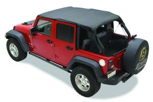 Tops & Parts - Soft Tops - Bestop - Bestop Header Bikini Top; Safari-style - Jeep 2010-2018 Wrangler JK Unlimited 52584-35
