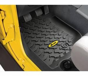 Interior - Floor Mats - Bestop - Bestop Floor Liners; Front - Jeep 2007-2013 Wrangler 2DR & 4DR; Pair 51500-01