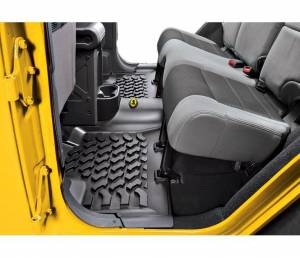 Interior - Floor Mats - Bestop - Bestop Floor Liner; Rear - Jeep 2007-2018 Wrangler JK Unlimited; Each 51504-01
