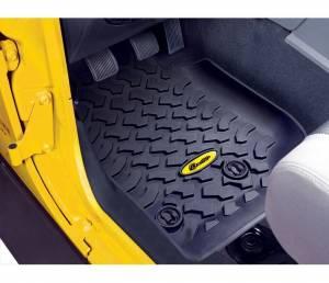 Interior - Floor Mats - Bestop - Bestop Floor Liners; Front - Jeep 2014-2018 Wrangler JK 2DR & 4DR; Pair 51513-01