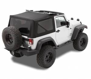 Tops & Parts - Soft Tops - Bestop - Bestop Replace-A-Top Black Twill Jeep 2007-2009 Wrangler 2DR 79836-17