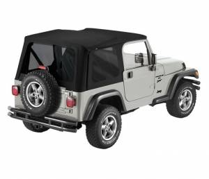Tops & Parts - Soft Tops - Bestop - Bestop Replace-A-Top Black Twill Jeep 1997-2006 Wrangler (Except Unlimited) 79841-17
