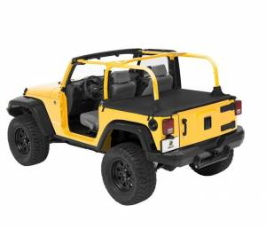 Exterior - Tonneau Covers - Bestop - Bestop Duster Deck Cover Jeep 2007-2018 Wrangler Unlimited 90031-35