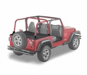 Exterior - Tonneau Covers - Bestop - Bestop Duster Deck Cover Jeep 1997-2002 Wrangler 90011-15