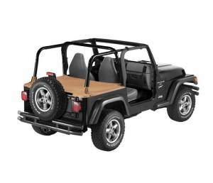 Exterior - Tonneau Covers - Bestop - Bestop Duster Deck Cover Jeep 1997-2002 Wrangler 90011-37