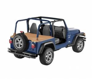 Exterior - Tonneau Covers - Bestop - Bestop Duster Deck Cover Jeep 1997-2002 Wrangler 90019-37