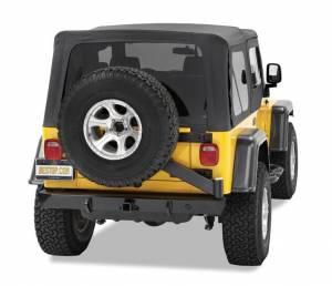 Exterior - Bumpers - Bestop - Bestop HighRock 4x4 Rear Bumper with Tire Carrier - Jeep 1997-2006 Wrangler 42931-01