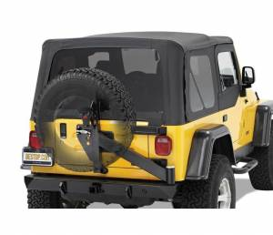 Exterior - Bumpers - Bestop - Bestop HighRock 4x4 Rear Bumper with Integrated Tire Carrier Jeep 1997-2006 Wrangler 44931-01