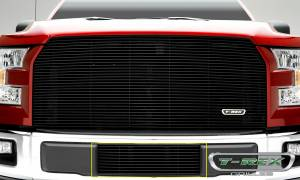 Exterior - Grilles - T-Rex - T-Rex Billet Bumper Grille, Black, Aluminum, 1 Pc, Insert 25573B