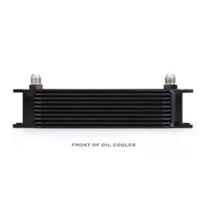 Performance - Oil System & Parts - Mishimoto - Mishimoto Universal 10 Row Oil Cooler, Black MMOC-10BK