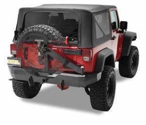 Exterior - Bumpers - Bestop - Bestop HighRock 4x4 Rear Bumper w Tire Carrier - Jeep 2007-2018 Wrangler JK 2DR & 4DR 42934-01