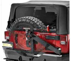 Exterior - Bumpers - Bestop - Bestop HighRock 4x4 Rear Bumper w Integrated Tire Carrier - 07-18 Wrangler JK 2DR & 4DR 44934-01