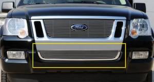 Exterior - Grilles - T-Rex - T-Rex Billet Bumper Grille, Polished, Aluminum, 1 Pc, Bolt-On 25662