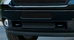 Exterior - Grilles - T-Rex - T-Rex Billet Bumper Grille, Black, Aluminum, 1 Pc, Bolt-On 25209B