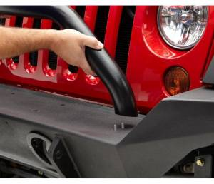 Exterior - Grille Guards and Bull Bars - Bestop - Bestop HighRock 4x4 Grill Guard; black Jeep 2007-2018 Wrangler JK 2DR & 4DR 42915-01