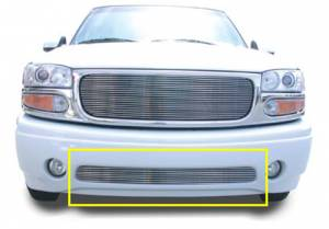 Exterior - Grilles - T-Rex - T-Rex Billet Bumper Grille, Polished, Aluminum, 1 Pc, Bolt-On 25179