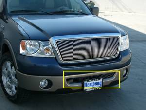 Exterior - Grilles - T-Rex - T-Rex Billet Bumper Grille, Polished, Aluminum, 1 Pc, Bolt-On 35555