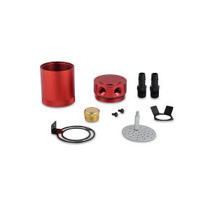 Performance - Oil System & Parts - Mishimoto - Mishimoto Mishimoto Compact Baffled Oil Catch Can, 2-Port MMBCC-MSTWO-RD
