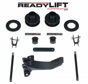 Suspension - Leveling Kits - ReadyLift - ReadyLift 2005-07 FORD F250/F350/F450 2.5'' Front Leveling Kit with Track Bar Bracket 66-2515