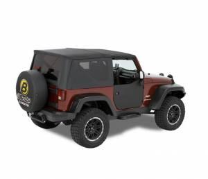 Exterior - Doors - Bestop - Bestop Lower Fabric Half-doors; Front - Jeep 2007-2018 Wrangler JK 2DR & 4DR 53040-35
