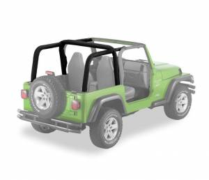 Tops & Parts - Soft Top Parts - Bestop - Bestop Sport Bar Covers Jeep 2007-2018 Wrangler Unlimited 80025-35