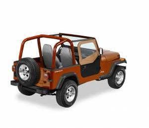 Exterior - Doors - Bestop - Bestop Upper Fabric Half-doors - Jeep 1988-1995 Wrangler 51780-37