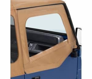 Exterior - Doors - Bestop - Bestop Upper Fabric Half-doors - Jeep 1988-1995 Wrangler 51782-37