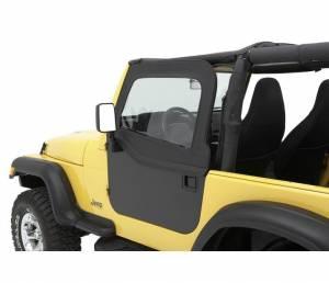 Exterior - Doors - Bestop - Bestop HighRock 4x4 Element Doors Upper Fabric Half-doors - 80-95 CJ7 And Wrangler 51795-15