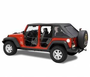 Exterior - Doors - Bestop - Bestop HighRock 4x4 Element Doors; Rear -  Jeep 2007-2018 Wrangler JK Unlimited 51811-01