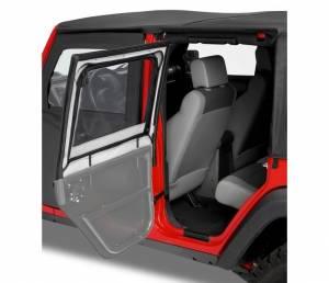Exterior - Doors - Bestop - Bestop HighRock 4x4 Element Doors Upper Fabric Half-doors - Jeep 1997-2006 Wrangler 51793-35