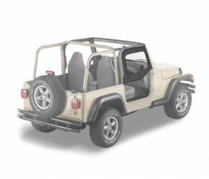 Exterior - Doors - Bestop - Bestop Upper Fabric Half-doors - Jeep 1997-2006 Wrangler 51790-15