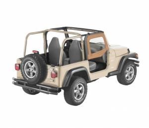 Exterior - Doors - Bestop - Bestop Upper Fabric Half-doors - Jeep 1997-2006 Wrangler 51790-37