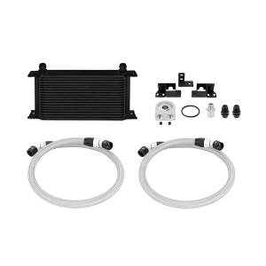Performance - Oil System & Parts - Mishimoto - Mishimoto Jeep Wrangler JK Oil Cooler Kit, Black MMOC-WRA-07BK