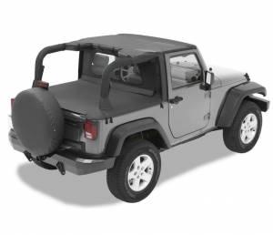 Tops & Parts - Soft Tops - Bestop - Bestop Header Bikini Top; Targa-style - Jeep 2007-2009 Wrangler 2DR 52580-11