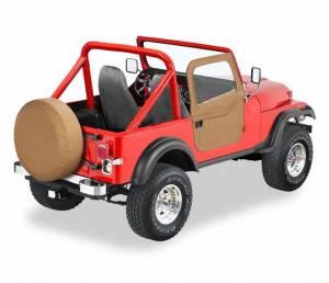 Exterior - Doors - Bestop - Bestop 2-piece Full Fabric Doors - Jeep 1976-1986 CJ7 51778-37