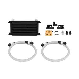 Performance - Oil System & Parts - Mishimoto - Mishimoto Jeep Wrangler JK Thermostatic Oil Cooler Kit, Black MMOC-WRA-07TBK