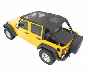 Tops & Parts - Soft Tops - Bestop - Bestop Header Bikini Top; Safari (Cable style) - Jeep 2010-2018 Wrangler JK Unltd 52594-11