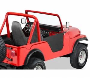 Exterior - Doors - Bestop - Bestop Lower Fabric Half-doors - Jeep 1976-1983 CJ5 53027-01