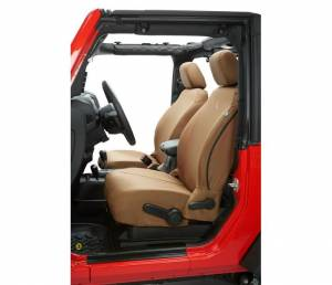 Interior - Seat Covers - Bestop - Bestop Seat Covers; Front - Jeep 2007-2012 Wrangler 2DR And 4DR 29280-04
