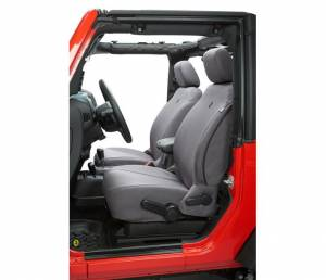 Interior - Seat Covers - Bestop - Bestop Seat Covers; Front - Jeep 2007-2012 Wrangler 2DR And 4DR 29280-09
