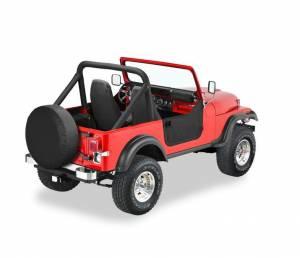 Exterior - Doors - Bestop - Bestop Lower Fabric Half-doors - Jeep 1980-1995 CJ7 And Wrangler 53038-01