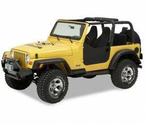 Exterior - Doors - Bestop - Bestop Lower Fabric Half-doors - Jeep 1997-2006 Wrangler 53039-15