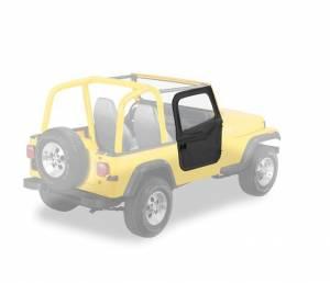 Exterior - Doors - Bestop - Bestop 2-piece Full Fabric Doors - Jeep 1980-1995 CJ7 And Wrangler 51783-01