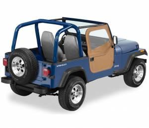 Exterior - Doors - Bestop - Bestop 2-piece Full Fabric Doors - Jeep 1980-1995 CJ7 And Wrangler 51783-37