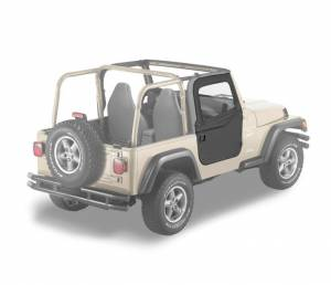 Exterior - Doors - Bestop - Bestop 2-piece Full Fabric Doors - Jeep 1997-2006 Wrangler 51789-15